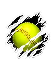 Softball  Sticker - Single (Vertical) front