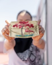 For Flamingo Lovers Cloth face mask aos-face-mask-lifestyle-07