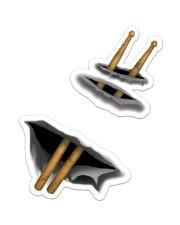 Drum Stick  Sticker - Single (Vertical) front