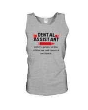 Dental Assistant Unisex Tank thumbnail