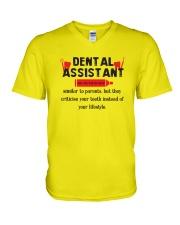 Dental Assistant V-Neck T-Shirt thumbnail