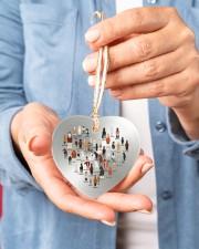 Horse Heart Heart ornament - single (porcelain) aos-heart-ornament-single-porcelain-lifestyles-01
