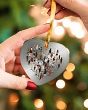 Horse Heart Heart ornament - single (porcelain) aos-heart-ornament-single-porcelain-lifestyles-09