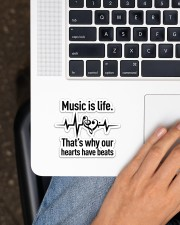 Music Is Life  Sticker - Single (Horizontal) aos-sticker-single-horizontal-lifestyle-front-11