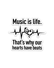 Music Is Life  Sticker - Single (Horizontal) front