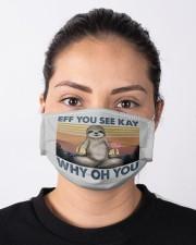 Sloth Eff You See Kay NTV Cloth face mask aos-face-mask-lifestyle-01