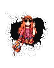 Hippie Girl  Sticker - Single (Vertical) front