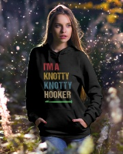 I'm A Knotty Knotty Hooker Hooded Sweatshirt lifestyle-holiday-hoodie-front-5