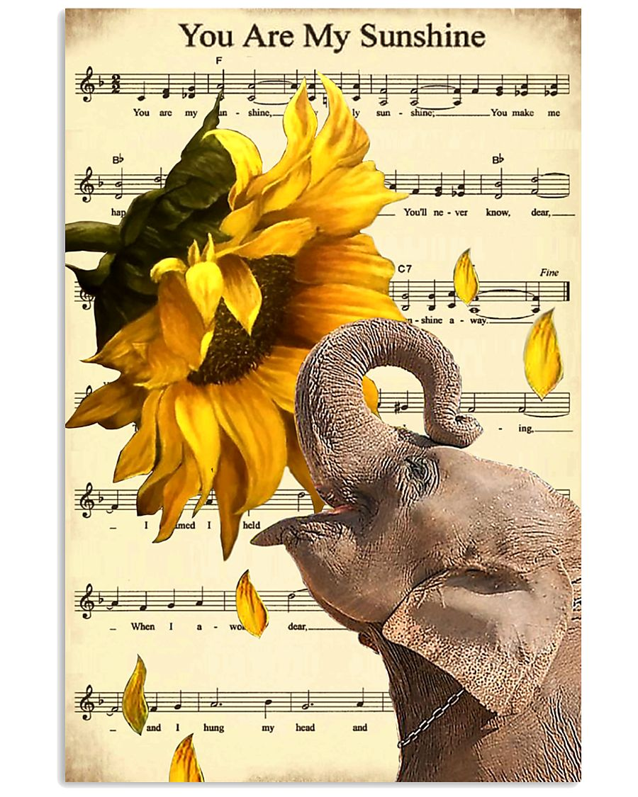 Elephant Sunflower 11x17 Poster