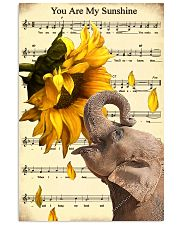 Elephant Sunflower 11x17 Poster front