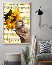 Elephant Sunflower 11x17 Poster lifestyle-poster-1