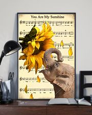 Elephant Sunflower 11x17 Poster lifestyle-poster-2