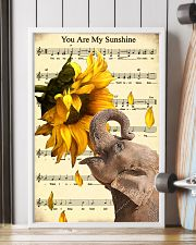 Elephant Sunflower 11x17 Poster lifestyle-poster-4