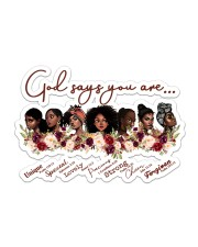 God Say You Are Sticker - Single (Horizontal) front