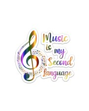 Music Is My Second Language Sticker - Single (Horizontal) front