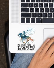 Horse Into The Forest I Go Sticker - Single (Vertical) aos-sticker-single-vertical-lifestyle-front-11