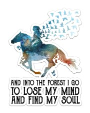 Horse Into The Forest I Go Sticker - Single (Vertical) front