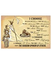 Native I Choose 17x11 Poster front