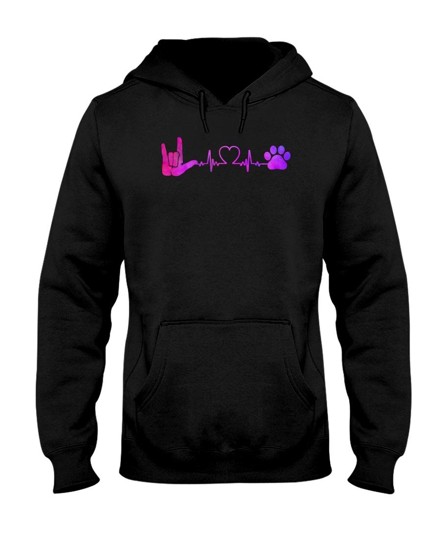 Sign Language And Dog Hooded Sweatshirt