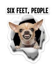 Chihuahua Six Feet People Sticker - Single (Vertical) front