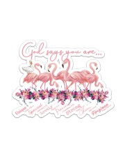 Flamingo God Says Sticker - Single (Horizontal) front