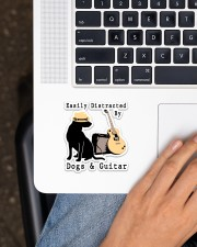 Easily Distracted By Guitar And Dogs Sticker - Single (Vertical) aos-sticker-single-vertical-lifestyle-front-11
