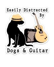 Easily Distracted By Guitar And Dogs Sticker - Single (Vertical) front