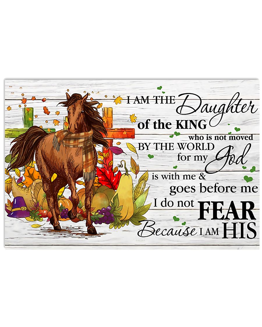 Horse Daughter Of The King  17x11 Poster