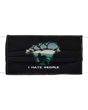Big Foot Hate People Cloth face mask front