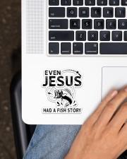Even Jesus Had A Fish Story Sticker - Single (Vertical) aos-sticker-single-vertical-lifestyle-front-11