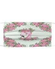 Flamingo Floral Cloth face mask front