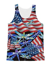 Dragonfly Us Flag All-over Unisex Tank thumbnail