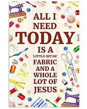 Quilting Jesus All I Need 11x17 Poster front