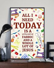 Quilting Jesus All I Need 11x17 Poster lifestyle-poster-2