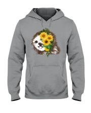 Sloth And Sunflower Hooded Sweatshirt thumbnail