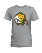 Sloth And Sunflower Ladies T-Shirt thumbnail