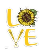Softball Love NTV Sticker - Single (Vertical) front