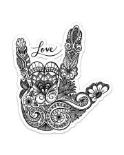 Sign Language Love Sticker - Single (Vertical) front