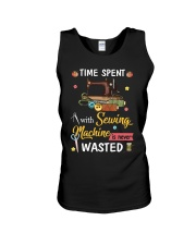Time Spent With Sewing Machine Is Never Wasted Unisex Tank thumbnail