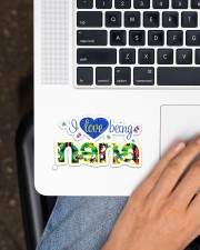I Love Being Nana  Sticker - Single (Horizontal) aos-sticker-single-horizontal-lifestyle-front-11