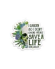 I Garden  Sticker - Single (Horizontal) front