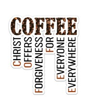 Coffee  Sticker - Single (Vertical) front