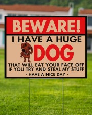I Have A Huge Dachshund 24x18 Yard Sign aos-yard-sign-24x18-lifestyle-front-02