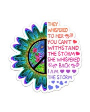 Hippie I Am The Storm Sticker - Single (Vertical) front