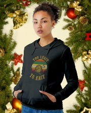 To Knit Hooded Sweatshirt lifestyle-holiday-hoodie-front-4