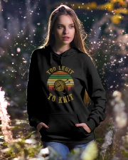 To Knit Hooded Sweatshirt lifestyle-holiday-hoodie-front-5