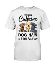 Dog Hair And Cuss Words Classic T-Shirt front