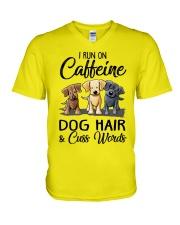 Dog Hair And Cuss Words V-Neck T-Shirt thumbnail