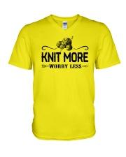 Knitting More V-Neck T-Shirt thumbnail