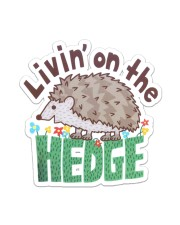 Living On The Hedge Sticker - Single (Vertical) front